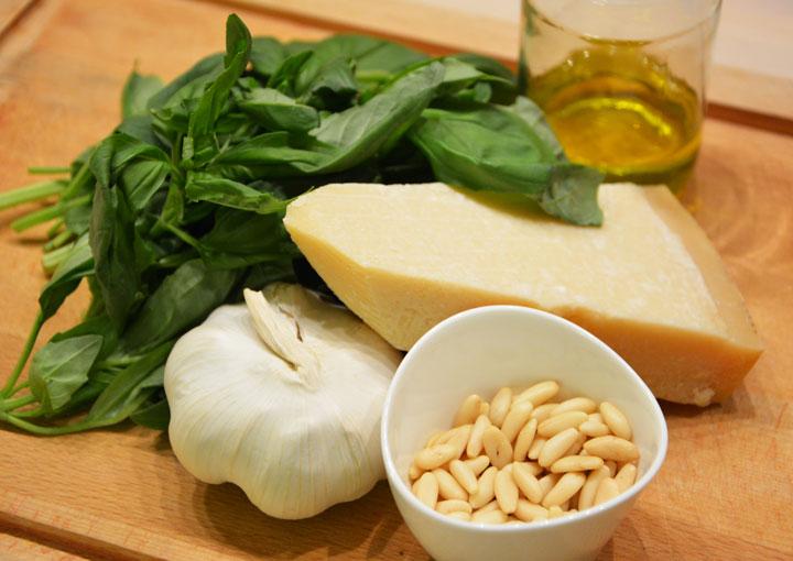 Pesto maison ingrédients